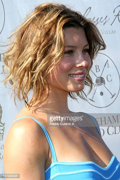 Jessica Biel during Jessica Biel and the Island Villas at Molasses Reef Host Week 4 of the 2006 Mercedes-Benz Polo Challenge at Bridgehampton Polo...