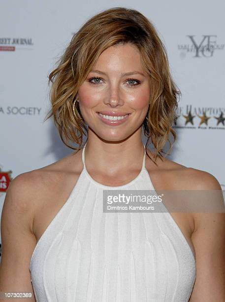 Jessica Biel during The Cinema Society and The Wall Street Journal Host The Illusionist Arrivals at Southampton UA Cinema in Southampton New York...