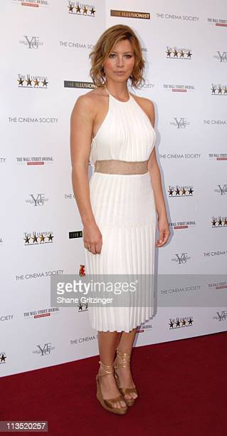 """Jessica Biel during The Cinema Society and The Wall Street Journal host """"The Illusionist"""" - Arrivals at Southampton UA Cinema in Southampton, New..."""