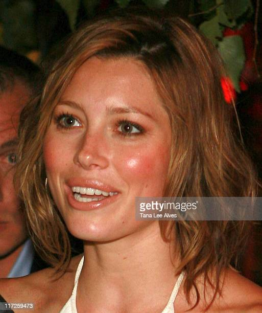 Jessica Biel during The Cinema Society and The Wall Street Journal Host The Illusionist After Party at Pink Elephant in Southampton, New York, United...