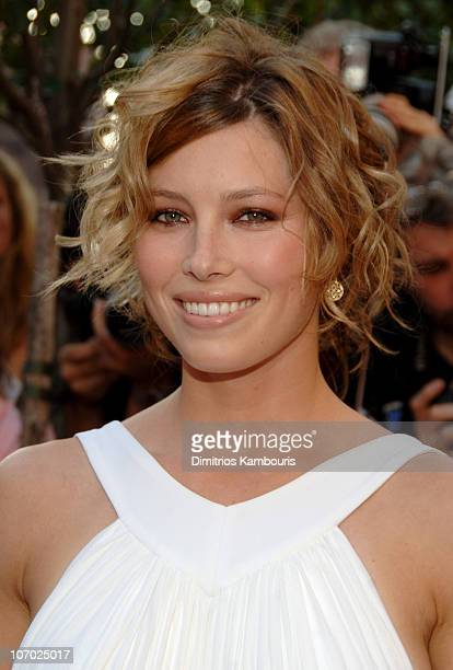 Jessica Biel during The Illusionist New York Premiere Arrivals at Clearview Chelsea West in New York City New York United States