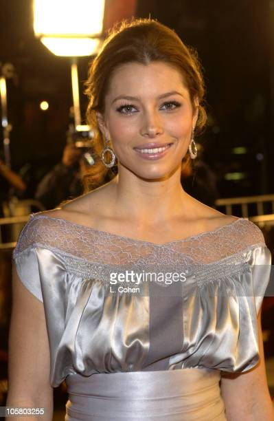 Jessica Biel during The Texas Chainsaw Masssacre World Premiere Red Carpet at Mann's Chinese Theatre in Hollywood California United States