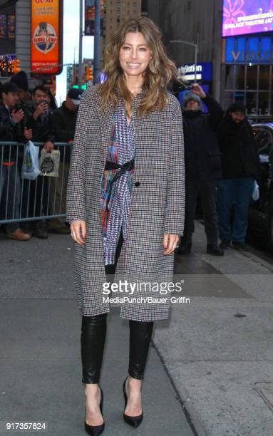 Jessica Biel is seen on February 12 2018 in New York City
