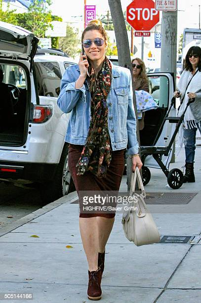 Jessica Biel is seen on January 15 2016 in Los Angeles California