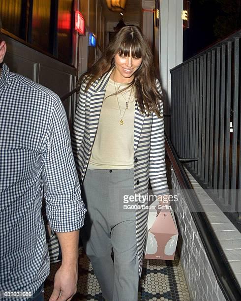 Jessica Biel is seen on January 24 2017 in Los Angeles California
