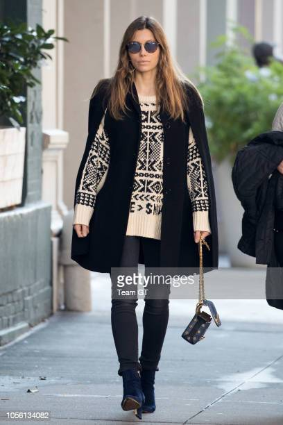 Jessica Biel is seen on November 1 2018 in New York City