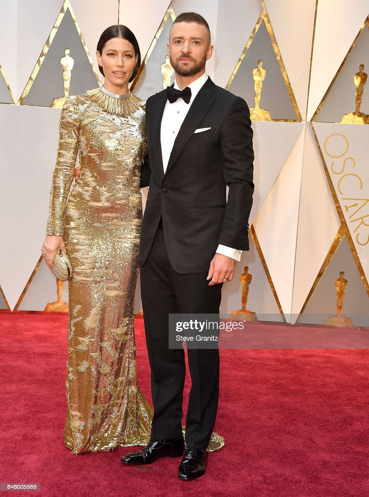 Jessica Biel, Justin Timberlake arrives at the 89th Annual Academy Awards at Hollywood & Highland Center on February 26, 2017 in Hollywood, California.