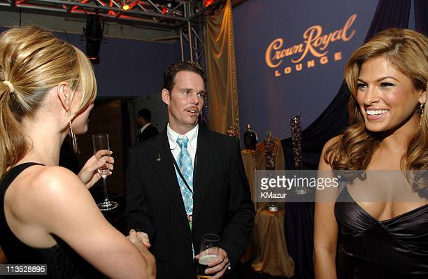 Jessica Biel, Kevin Dillon and Eva Mendes during 2005 ESPY Awards - Front Row and Backstage at Kodak Theater in Hollywood, California, United States.