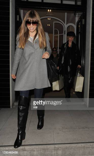 February 19: Jessica Biel leaves the Stella McCartney boutique in Mayfair with a helper walking behind her laden with bags. She spent around 1 hour...