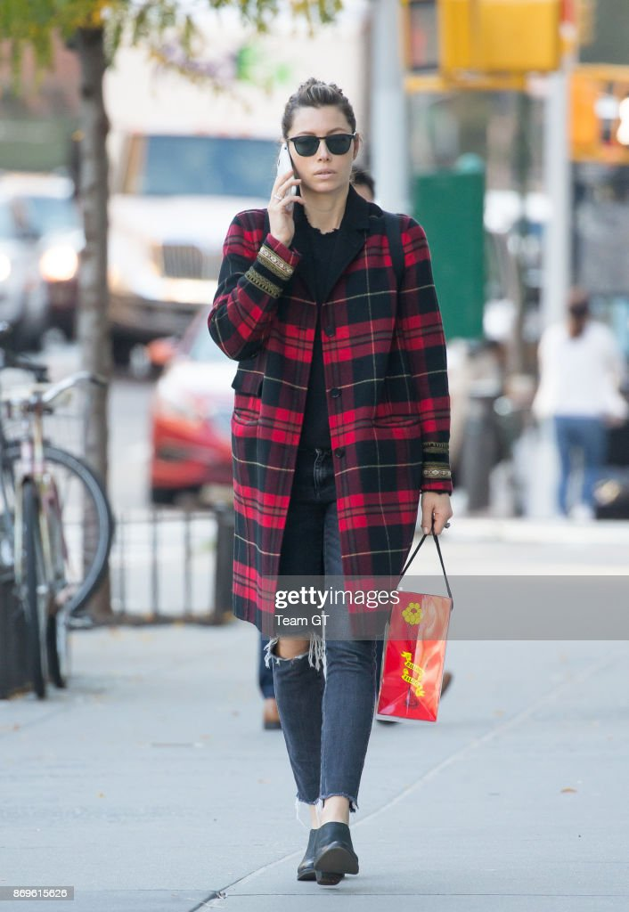 Jessica Biel seen on November 2, 2017 in New York City.