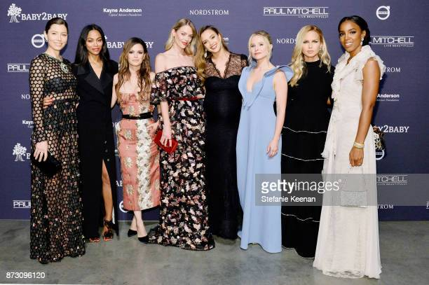 Jessica Biel Zoe Saldana Rachel Bilson Jaime King Jessica Alba Kristen Bell Rachel Zoe and Kelly Rowland attend The 2017 Baby2Baby Gala presented by...