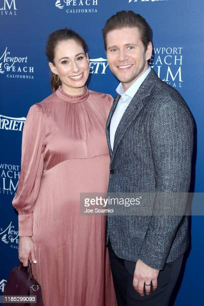 Jessica Blair Herman and Allen Leech attend the Newport Beach Film Festival Fall Honors And Variety's 10 Actors To Watch presented by Visit Newport...