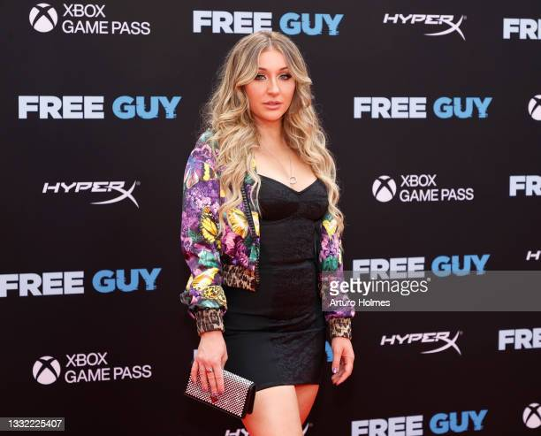 """Jessica Blevins attends the """"Free Guy"""" New York Premiere at AMC Lincoln Square Theater on August 03, 2021 in New York City."""