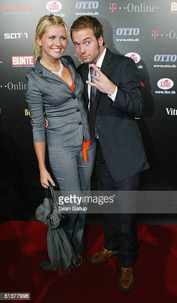 Jessica Boehrs and Sebastian arrive at the Neo Awards at the Tempodrom on September 30 2004 in Berlin Germany