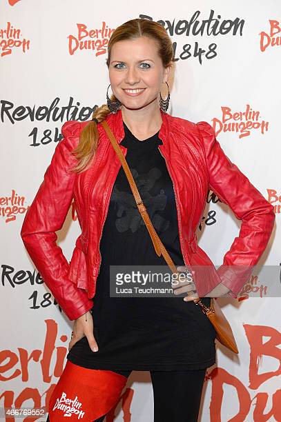Jessica Boehrs attends 'Revolution 1848' Show Premiere at Berlin Dungeon on March 18 2015 in Berlin Germany