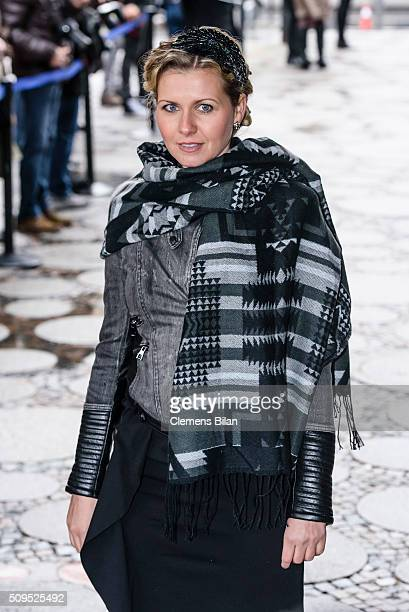 Jessica Boehrs attends the Wolfgang Rademann memorial service on February 11 2016 in Berlin Germany