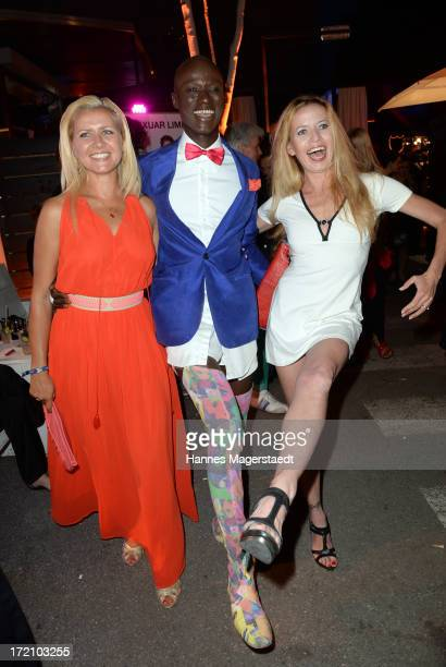Jessica Boers Papis Loveday and Georgia Schultze attend the Movie Meets Media Party during the Munich Film Festival 2013 at P1 on July 1 2013 in...