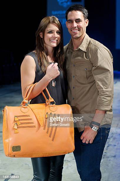 Jessica Bratich and Mitchell Johnson front row at the Jessica Bratich showcase as part of the New Gen parade Perth Fashion Week 2012, at Perth...