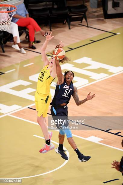 Jessica Breland of the Atlanta Dream rebounds the ball against the Seattle Storm on July 22 2018 at McCamish Pavilion in Atlanta Georgia NOTE TO USER...