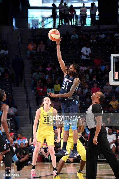 Jessica Breland of the Atlanta Dream shoots the ball against the Seattle Storm on July 22 2018 at McCamish Pavilion in Atlanta Georgia NOTE TO USER...