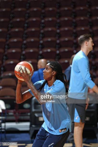Jessica Breland of the Atlanta Dream shoots the ball before the game against the Connecticut Sun on JULY 17 2018 at the Mohegan Sun Arena in...