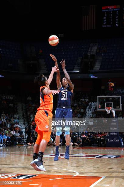 Jessica Breland of the Atlanta Dream shoots the ball during the game against the Connecticut Sun on JULY 17 2018 at the Mohegan Sun Arena in...