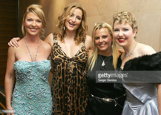 Jessica Brown Bianca Dye Ajay Rochester and Grace Whiting attend the Arabian Nights Experience Ball the third annual fundraising ball in aid of the...