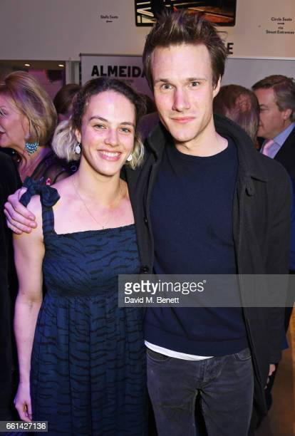 Jessica Brown Findlay and Hugh Skinner attend 'Brave New Works The Almeida Fundraising Gala 2017' at The Almeida Theatre on March 30 2017 in London...