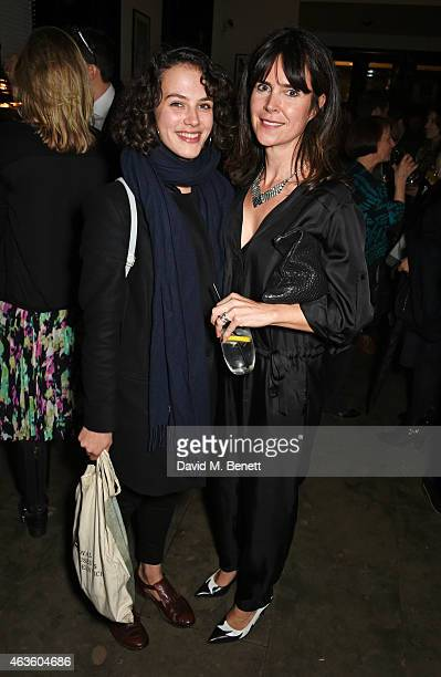 Jessica Brown Findlay and Liza Marshall attend the after party following the press night performance of 'A View From The Bridge' at The National Cafe...