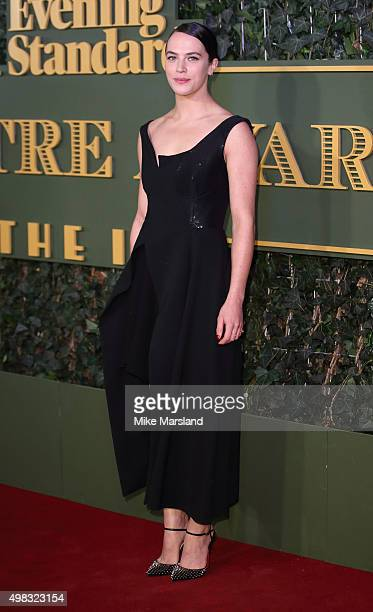 Jessica Brown Findlay attends the Evening Standard Theatre Awards at The Old Vic Theatre on November 22 2015 in London England