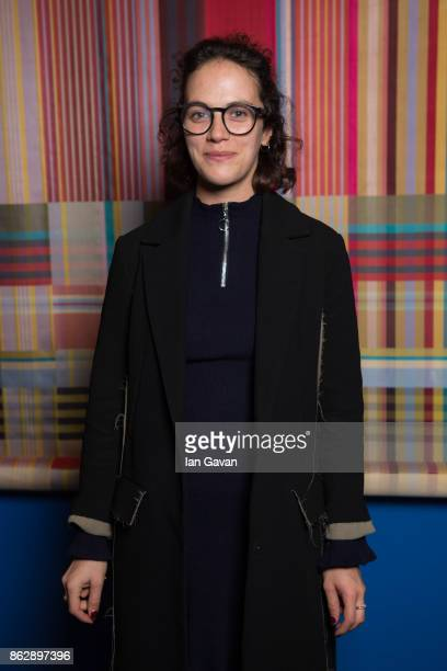 Jessica Brown Findlay attends the Louise DahlWolfe exhibition private view at The Fashion and Textile Museum on October 18 2017 in London England