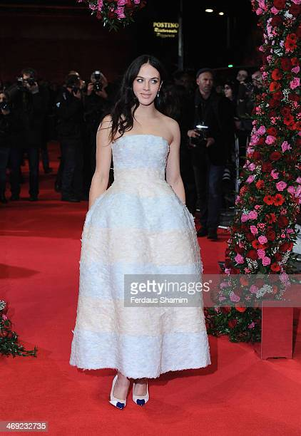 Jessica Brown Findlay attends the UK Premiere of 'New York Winter's Tale' at ODEON Kensington on February 13 2014 in London England