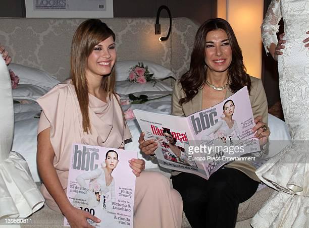 Jessica Bueno and Raquel Revuelta attend 'BBC Bodas Bautizos y Comuniones' magazine launching at Hotel Palacio Alma De Villapanes on February 22 2012...