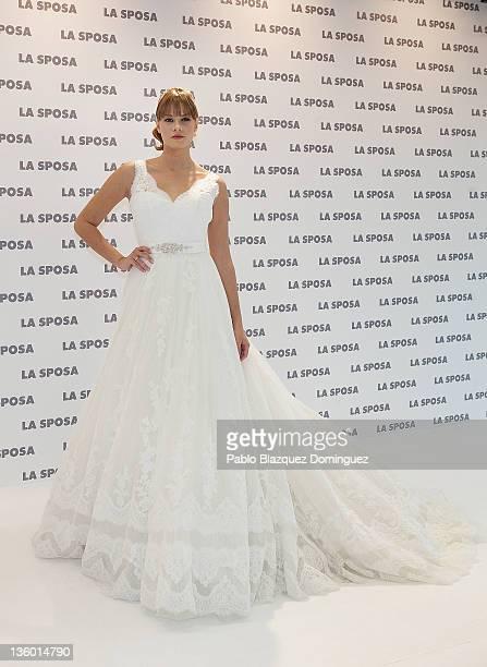 3a1081985fcf Jessica Bueno presents Wedding Dress Brand  La Sposa  at Torre de Cristal  building on