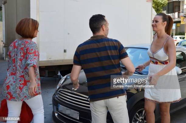 Jessica Bueno several months pregnant and her mother Loli are seen on May 28 2012 in Seville Spain