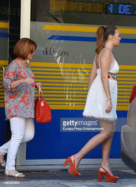 Jessica Bueno several months pregnant and her mother Loli ares seen on May 28 2012 in Seville Spain