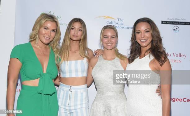 Jessica Bunevacz Briana Bunevacz Kaya Callahan and actress Eva LaRue attend the Champion For Children Gala and Awards celebration at Sportsman's...