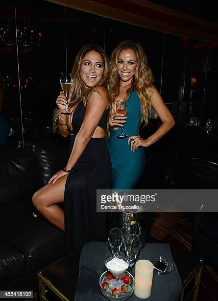 Jessica Burciaga and Tania Marie attend the Mexican Independence Day party at Crazy Horse III GentlemenÕs Club on September 13 2014 in Las Vegas...