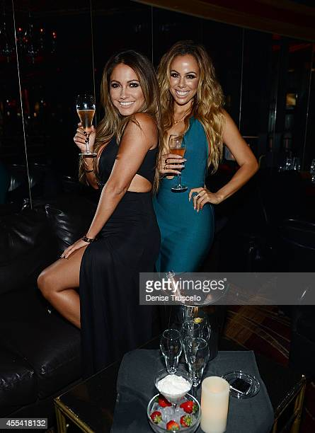 Jessica Burciaga and Tania Marie attend the Mexican Independence Day party at Crazy Horse III GentlemenÕs Club on September 13, 2014 in Las Vegas,...