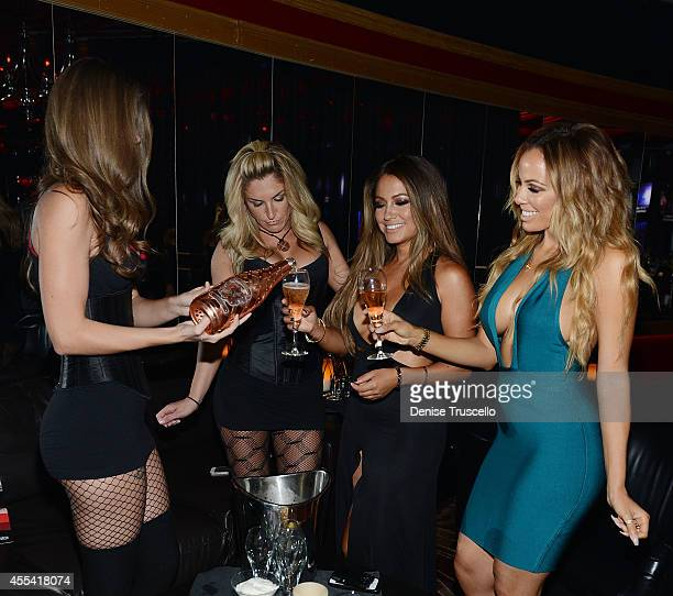 Jessica Burciaga and Tania Marie celebrate Mexican Independence Day at Crazy Horse III GentlemenÕs Club on September 13 2014 in Las Vegas Nevada