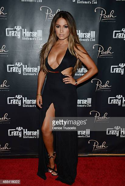 Jessica Burciaga arrives at the Mexican Independence Day party at Crazy Horse III GentlemenÕs Club on September 13 2014 in Las Vegas Nevada