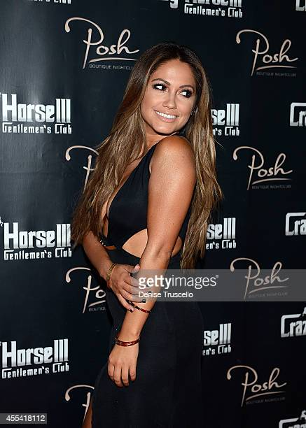 Jessica Burciaga arrives at the Mexican Independence Day party at Crazy Horse III GentlemenÕs Club on September 13, 2014 in Las Vegas, Nevada.