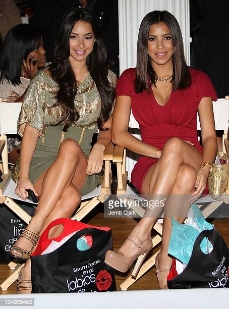 Jessica Caban and Eunice Quinones attends the Sachika Spring 2012 fashion show during Style360 on September 13 2011 in New York City