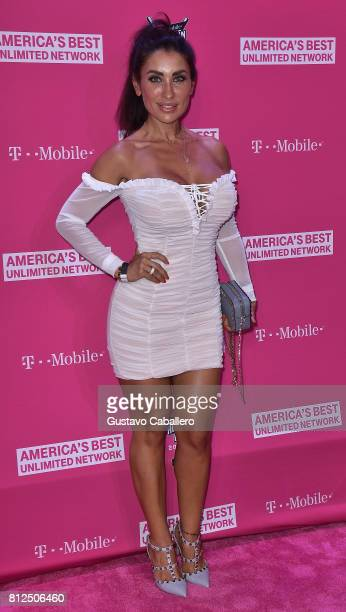 Jessica Canizales arrives at the TMobile Presents Derby After Dark at Faena Forum on uly 10 2017 in Miami Beach Florida