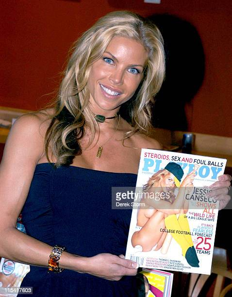 Jessica Canseco during Jessica Canseco Promotes Her Playboy Spread and Her New Book Juicy Confessions of a Former Baseball Wife September 6 2005 at...