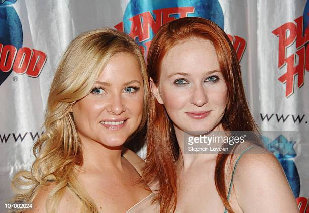 Jessica Capshaw and Halley Feiffer during Opening Night Party for Second Stage Theatre's Production of Eric Bogosian's 'subUrbia' at Planet Hollywood...