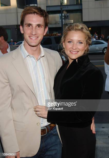 Jessica Capshaw and husband during 'The Terminal' World Premiere Red Carpet at Academy of Motion Picture Arts and Science in Beverly Hills California...