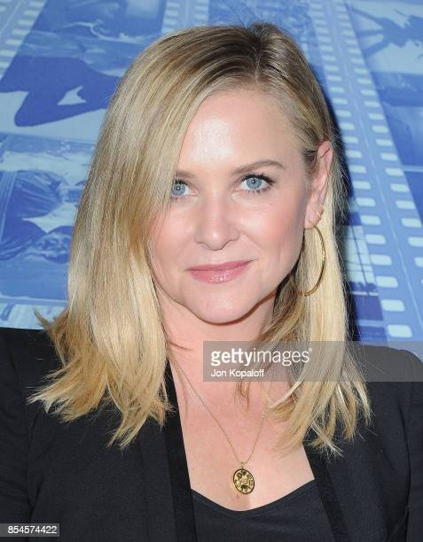 """Jessica Capshaw arrives at the HBO Premiere """"Spielberg"""" at Paramount Studios on September 26, 2017 in Hollywood, California."""