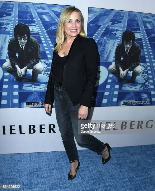 """Jessica Capshaw arrives at the Premiere Of HBO's """"Spielberg"""" at Paramount Studios on September 26, 2017 in Hollywood, California."""