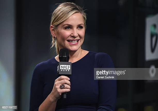 Jessica Capshaw attends the Build Series to discuss the show 'Grey's Anatomy' at Build Studio on January 19 2017 in New York City